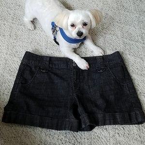White House Black Market Shorts - WH/BM black denim short, sz 12